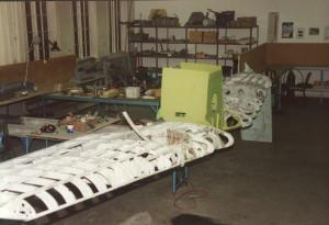 Prøvemontering av vinger